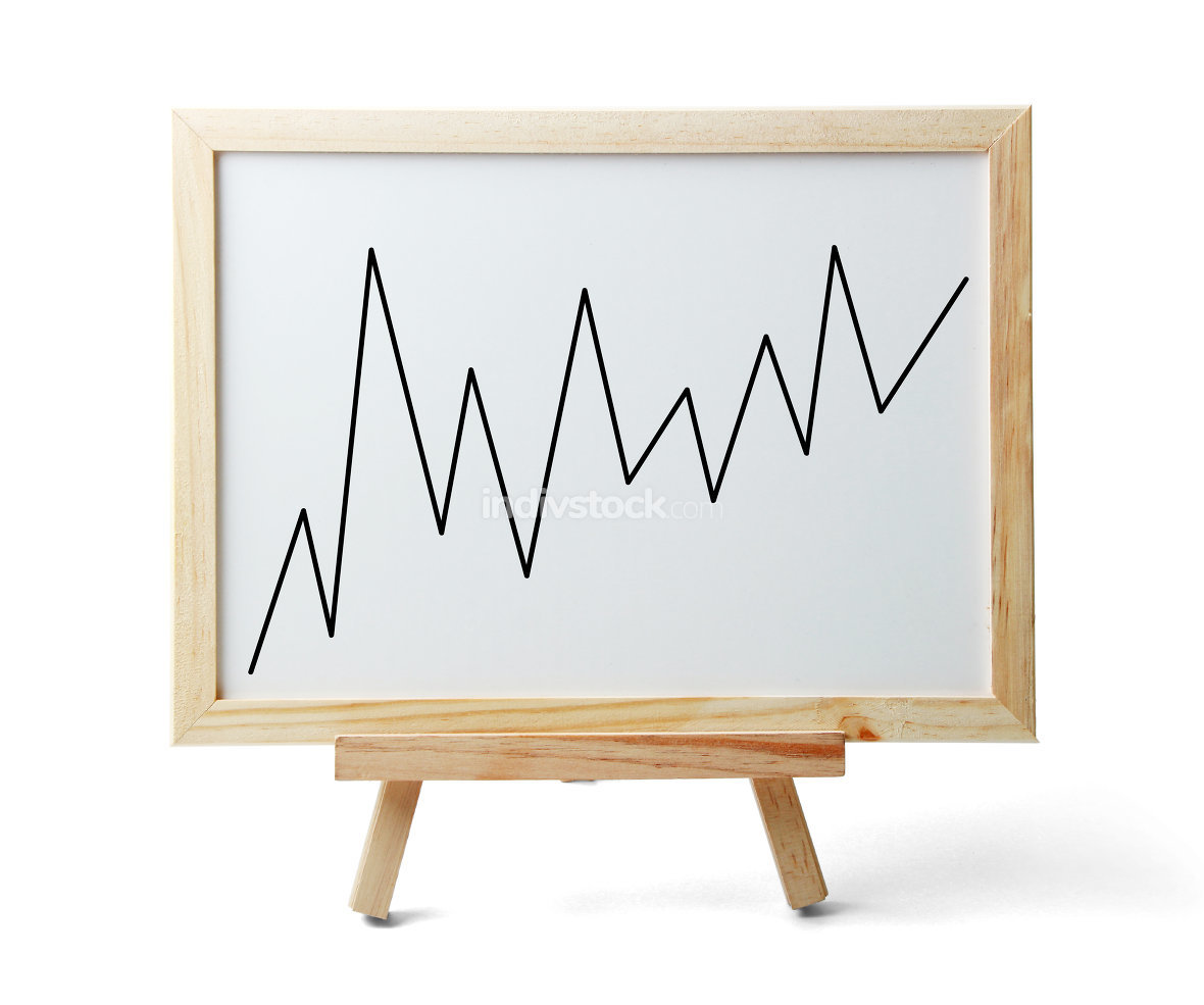 Rising Graph On Whiteboard