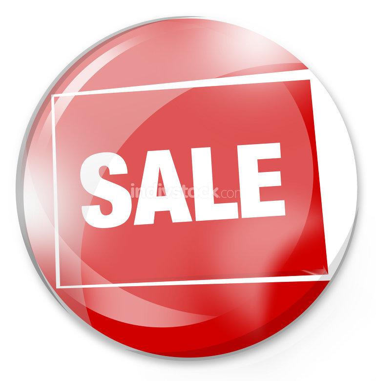 round sale red glass