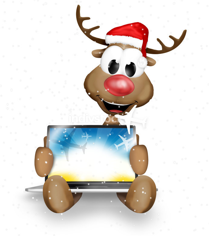 snow reindeer christmas computer holiday