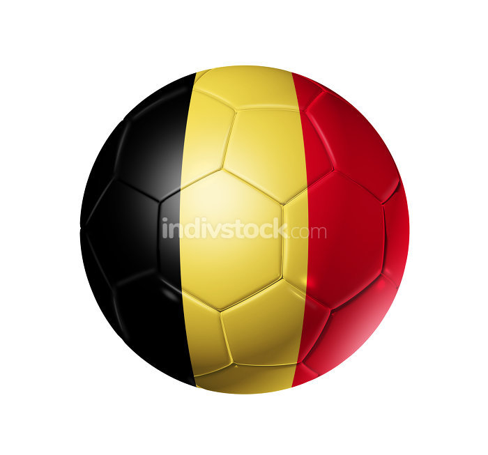 Soccer football ball with Belgium flag