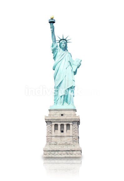 statue of liberty fresh light color