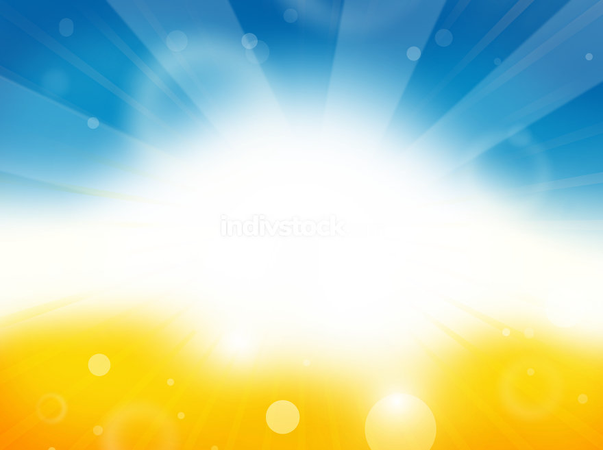sunny summer sky beach colored background