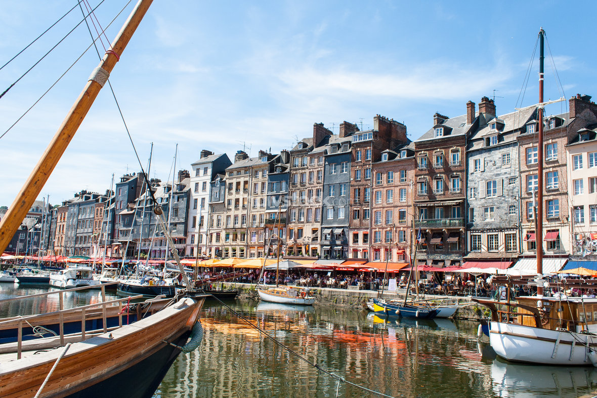 the port town of Honfleur in France