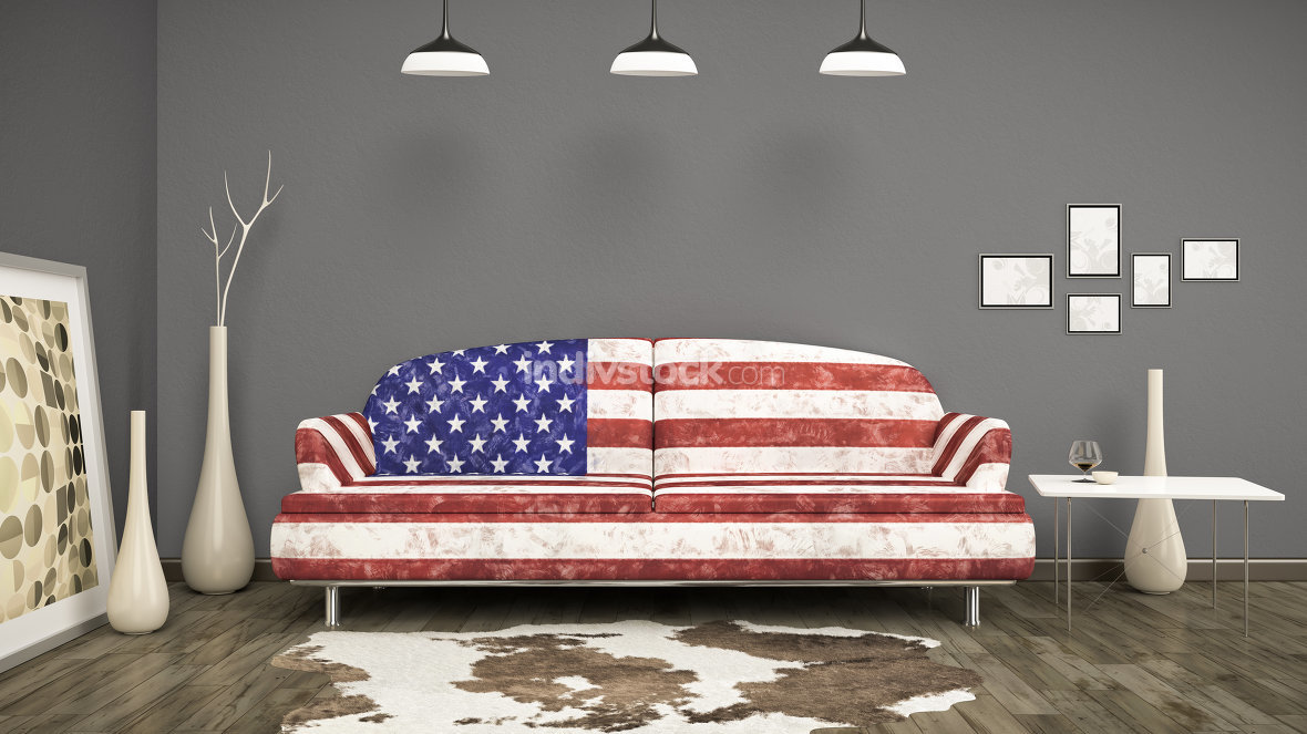usa flag sofa
