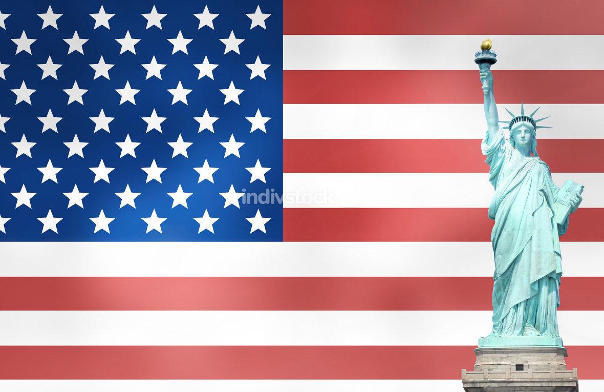 usa flag statue lights