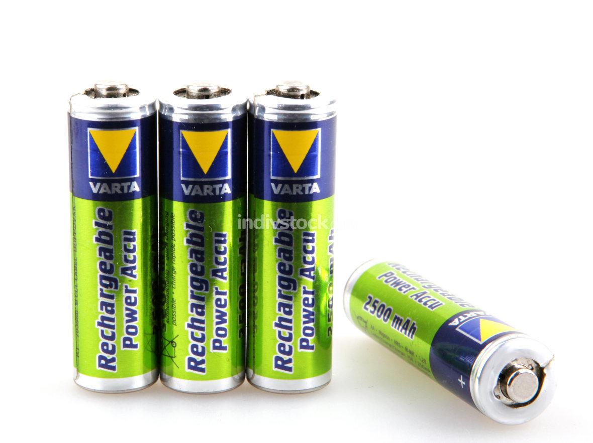 VARTA batteries isolated