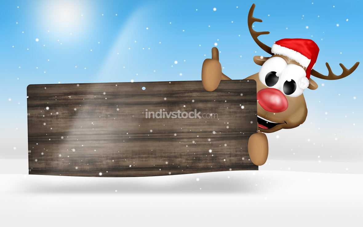 wood christmas reindeer