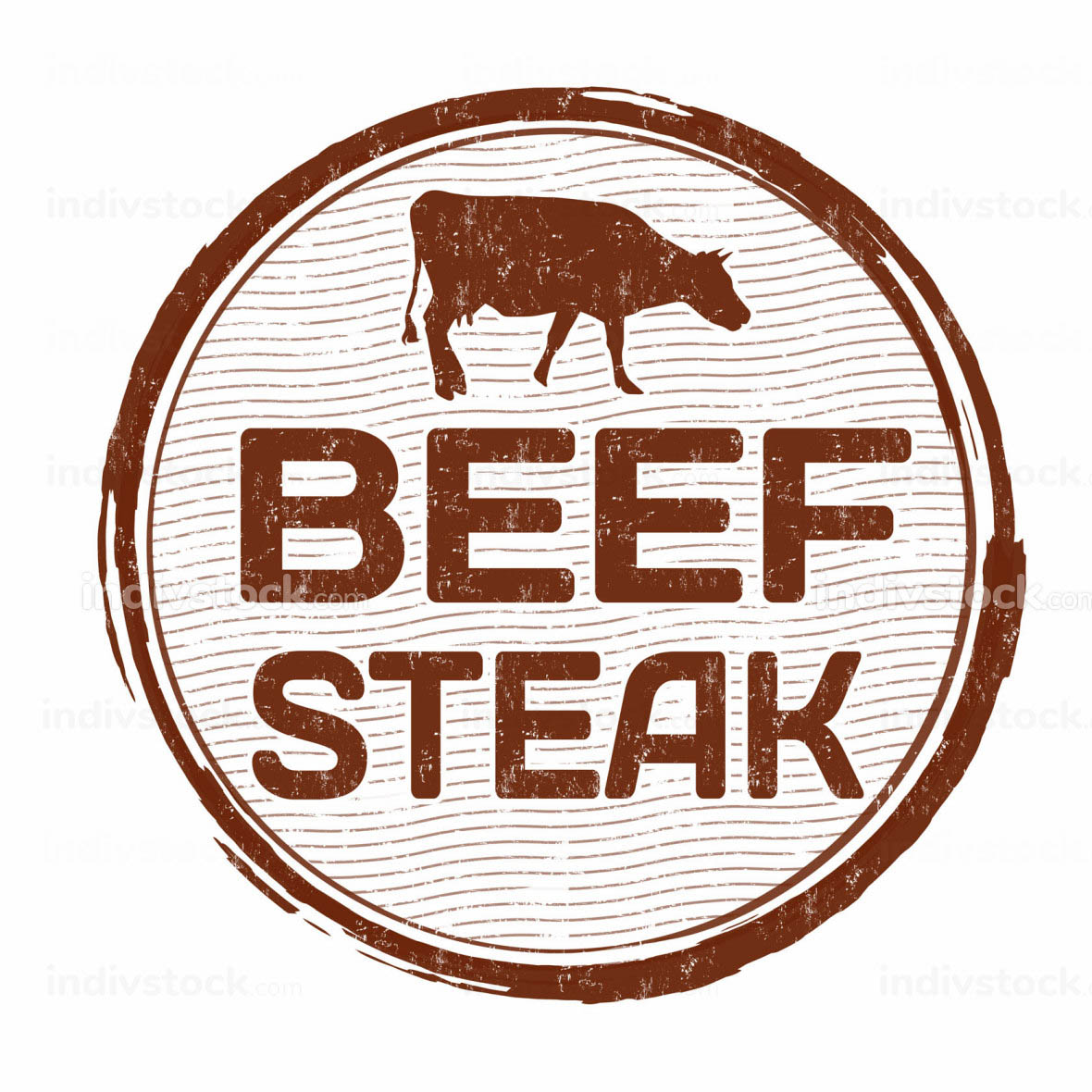 Beef steak stamp