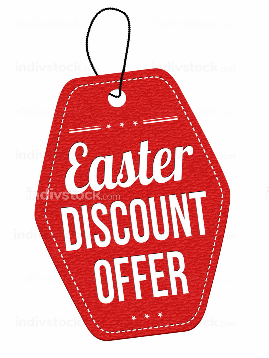 Easter discount offer label or price tag