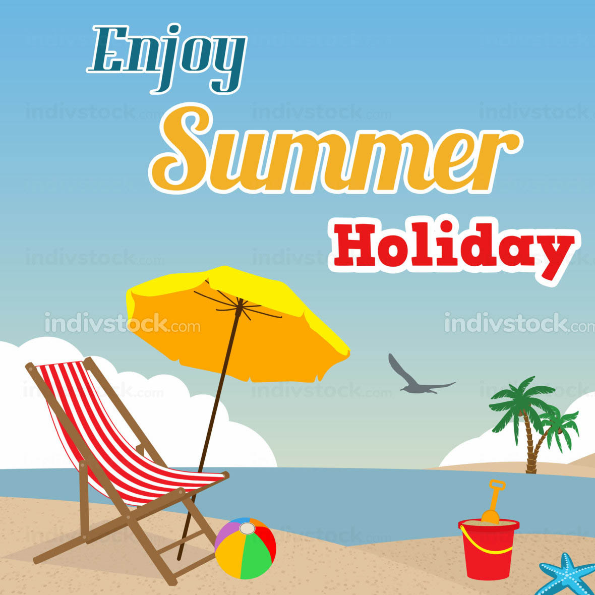 Enjoy Summer Holiday poster