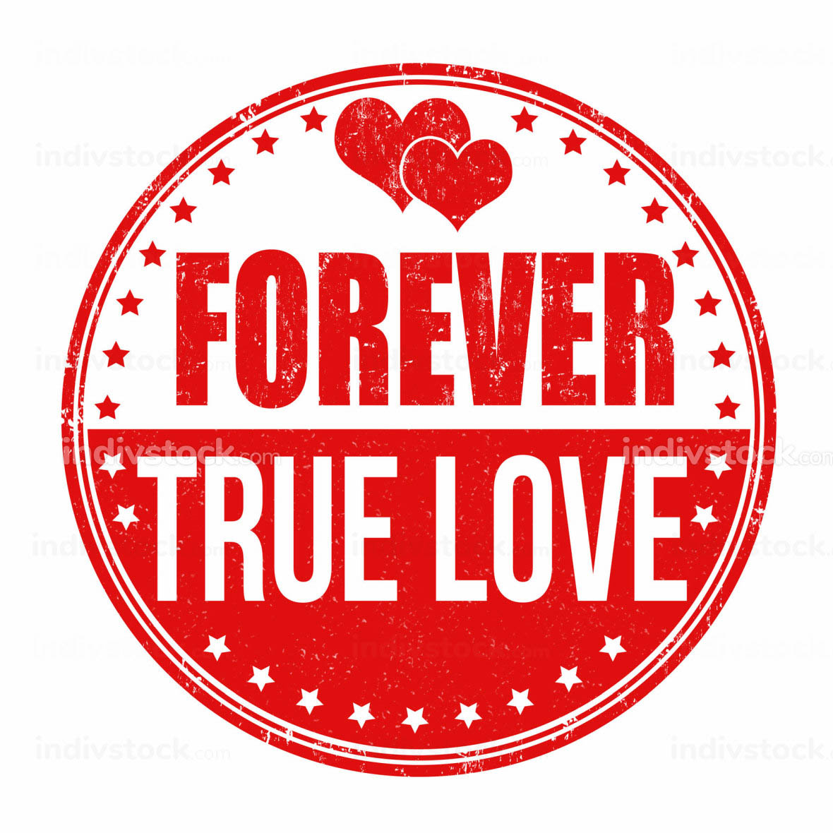 Forever true love stamp