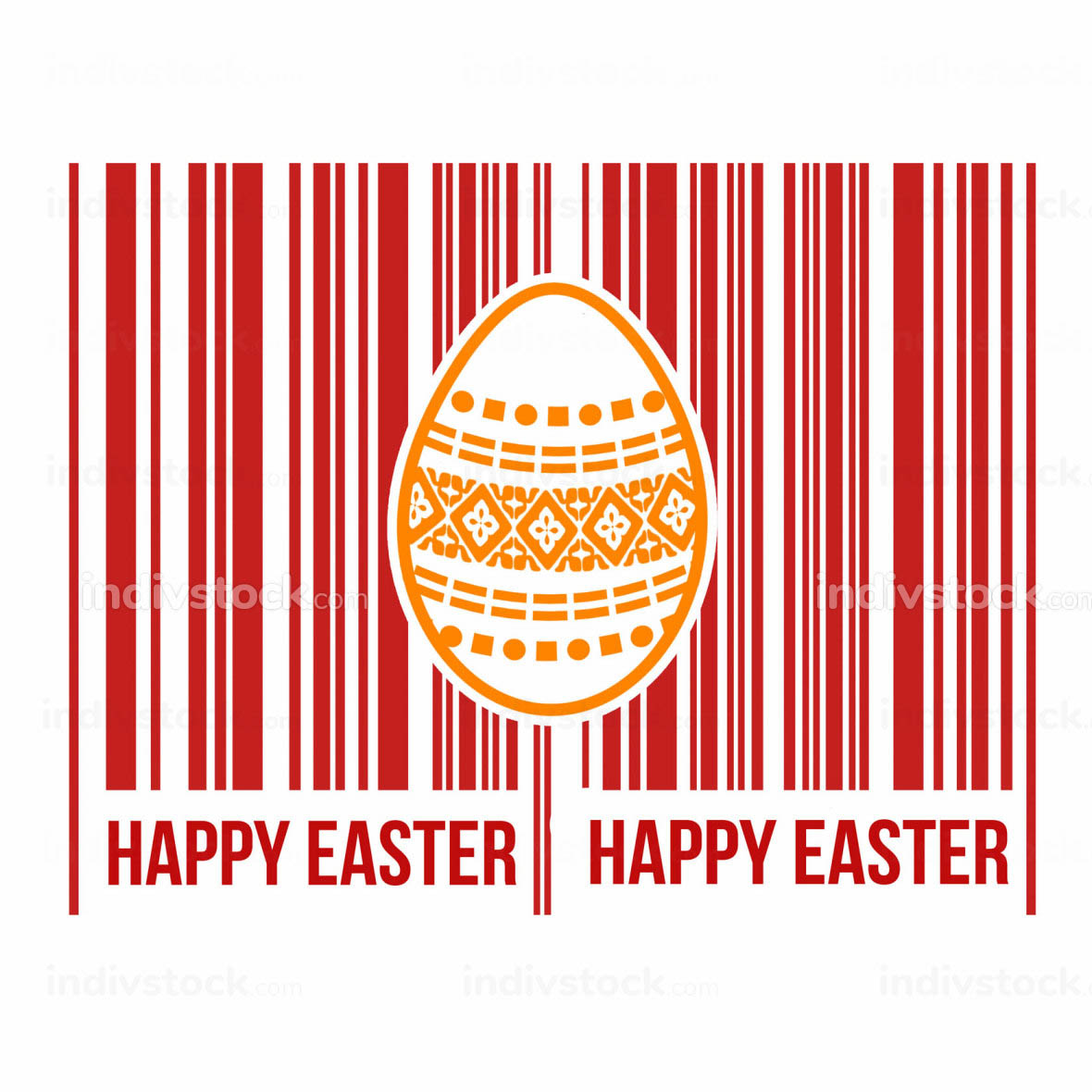 Happy Easter barcode