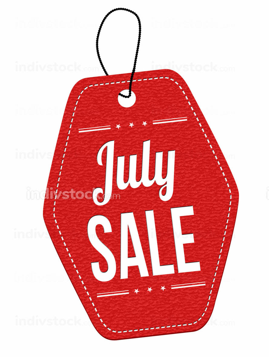 July sale label or price tag