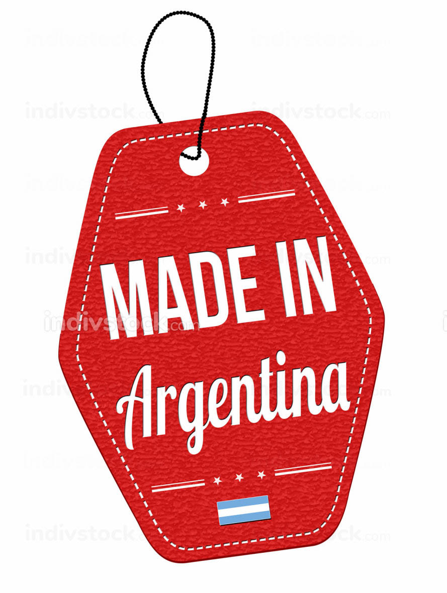Made in Argentina label or price tag