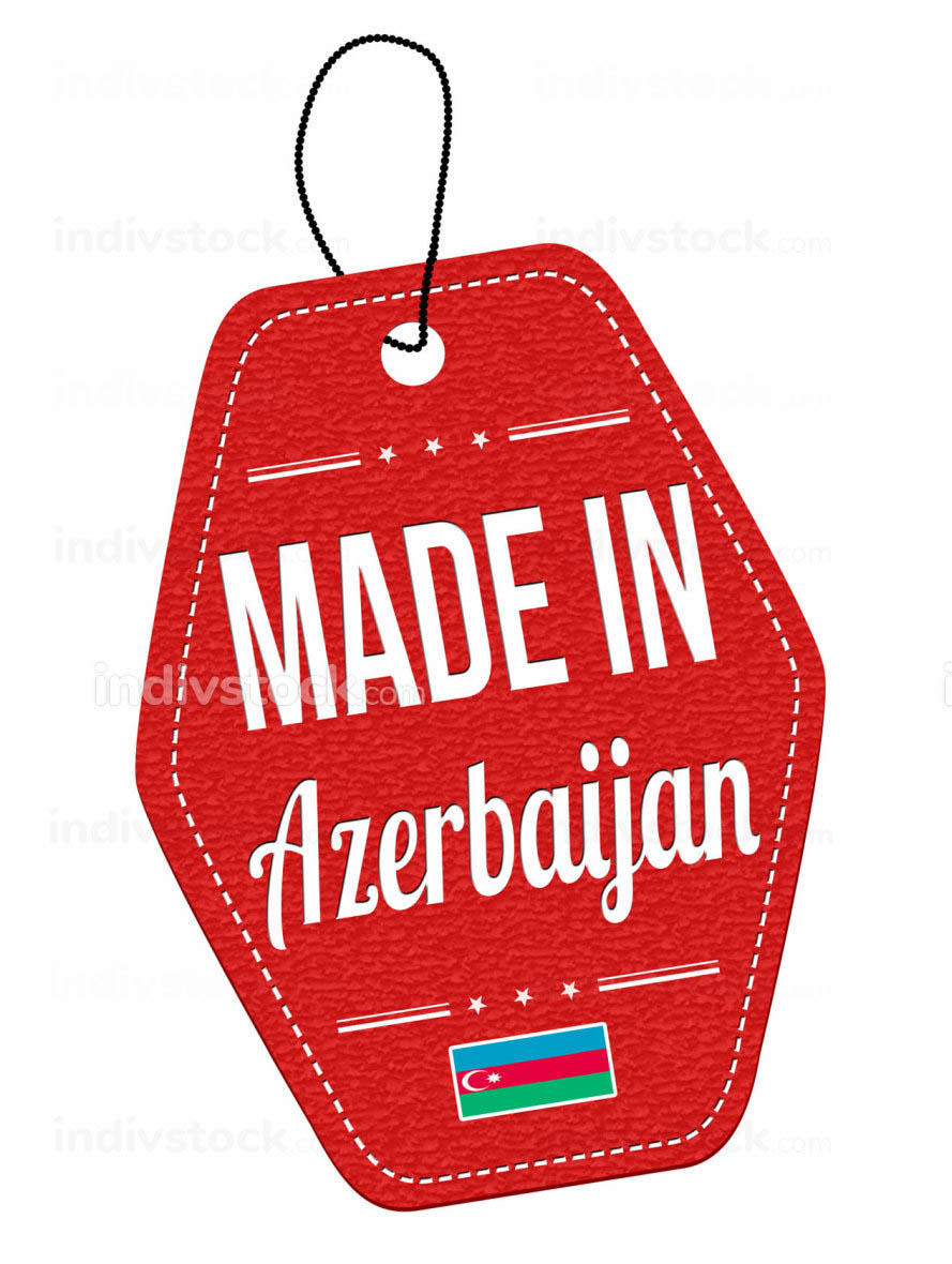 Made in Azerbaijan label or price tag
