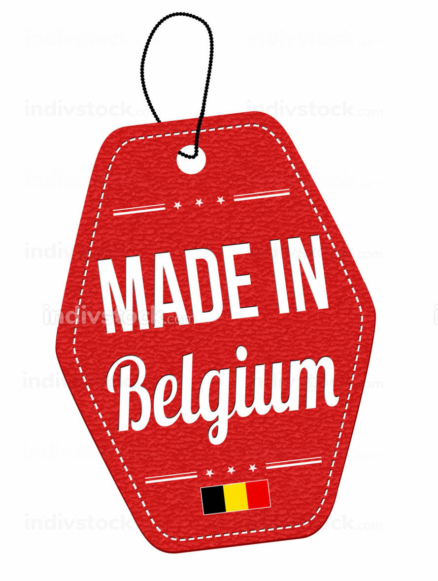 Made in Belgium label or price tag