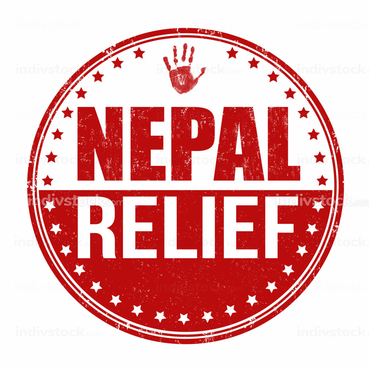 Nepal relief stamp