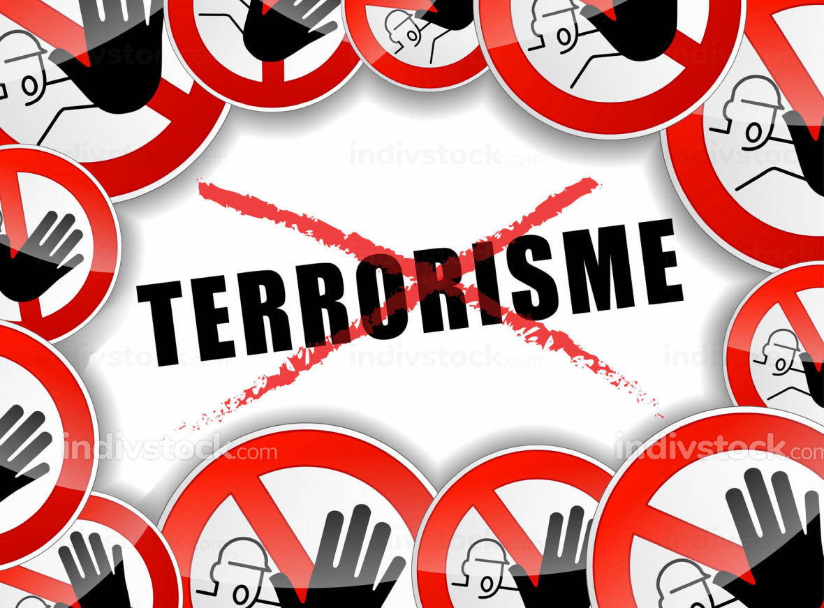 no terrorism concept illustration
