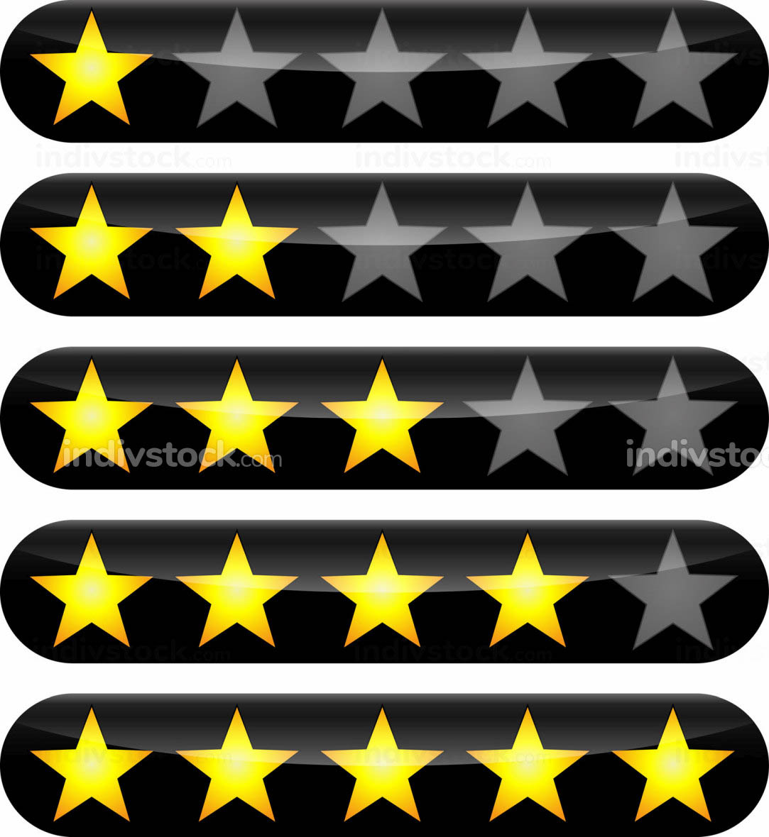 rating stars icons