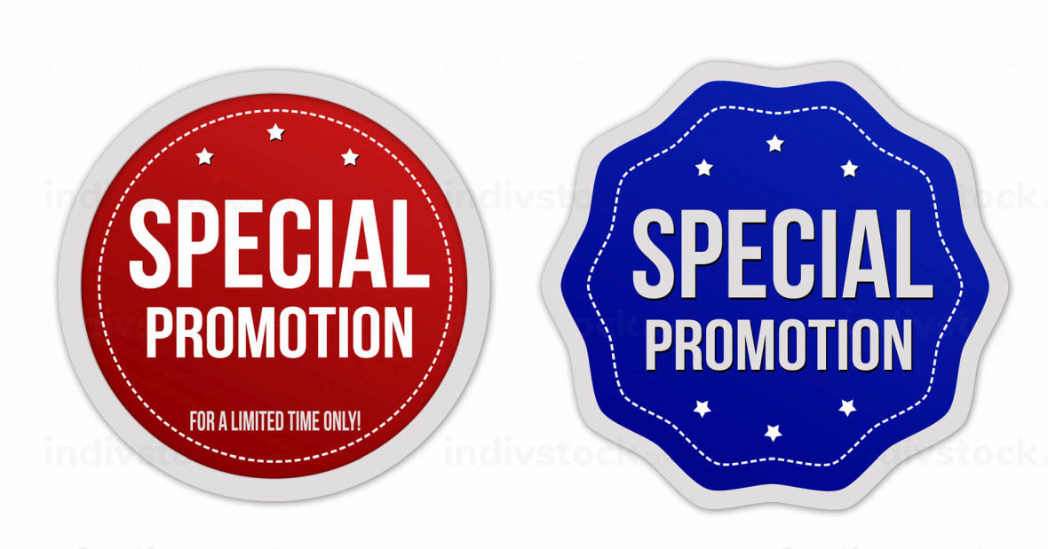 Special promotion stickers set