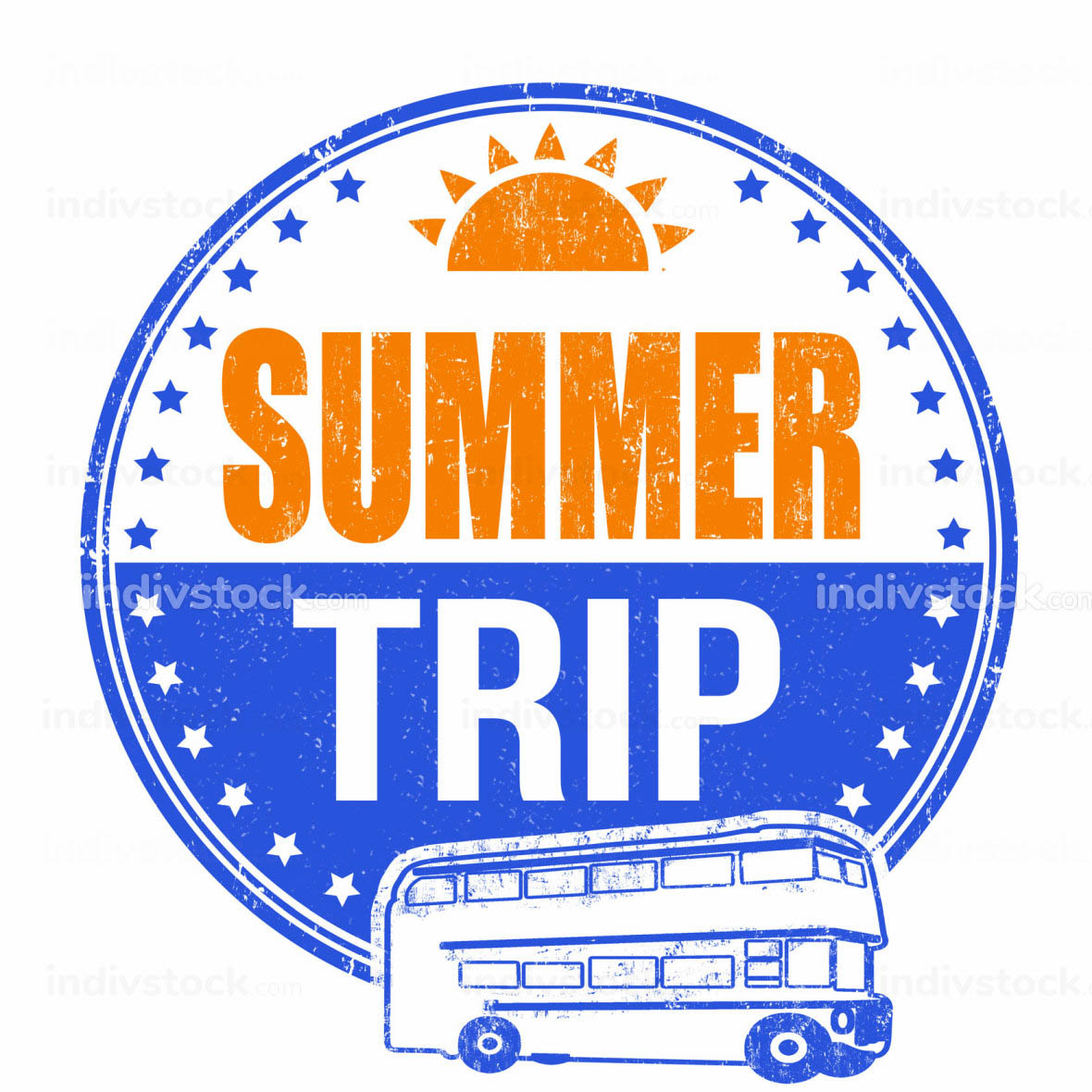 Summer trip stamp