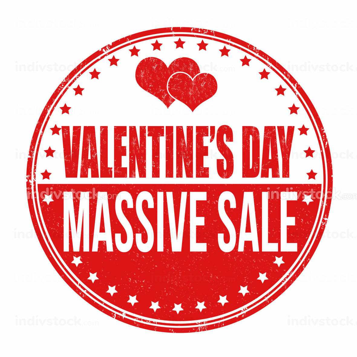 Valentines Day massive sale stamp
