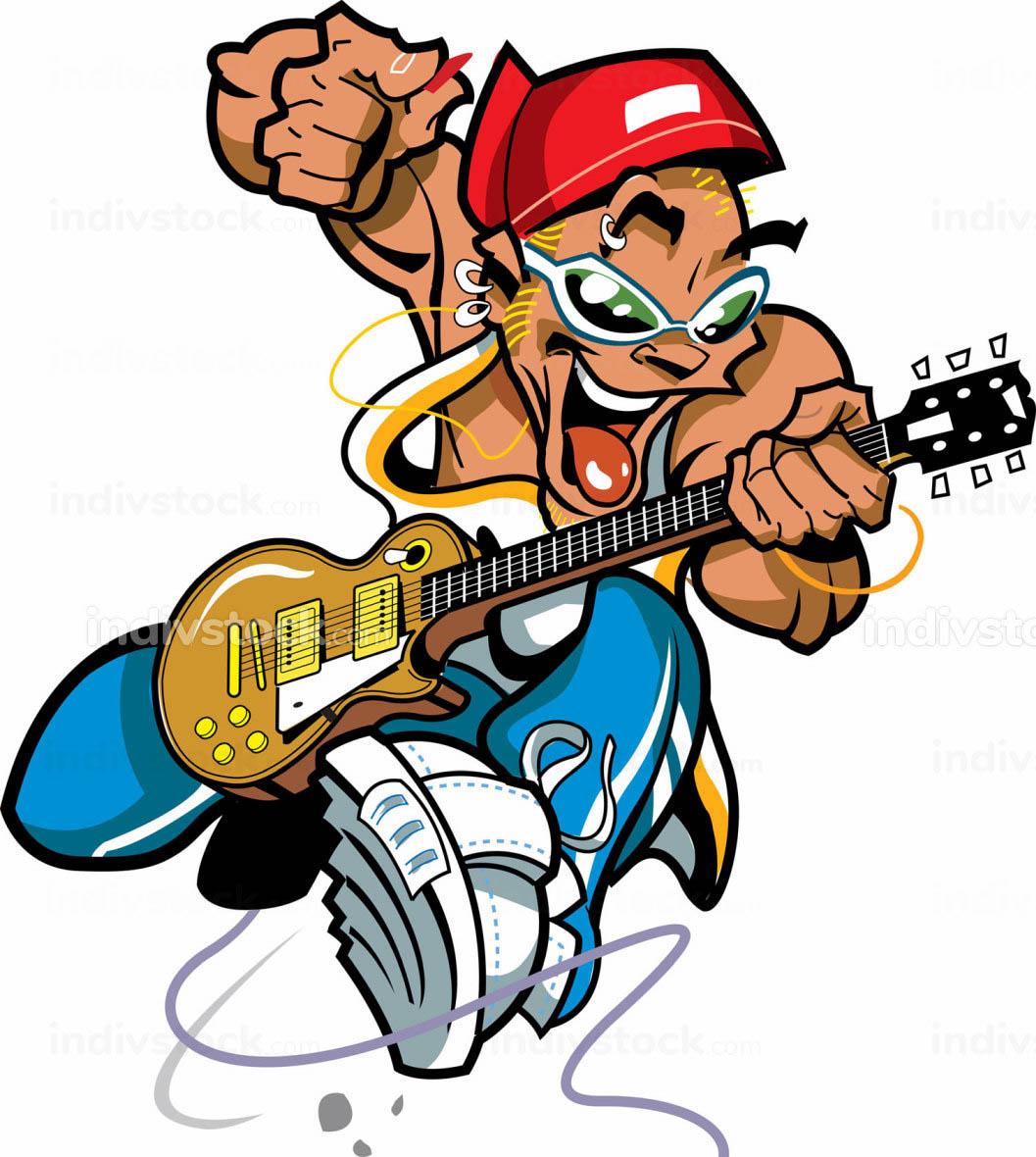 Wild Rock Guitar Player