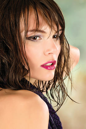 handsome girl with wet hair