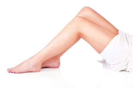 legs of young woman