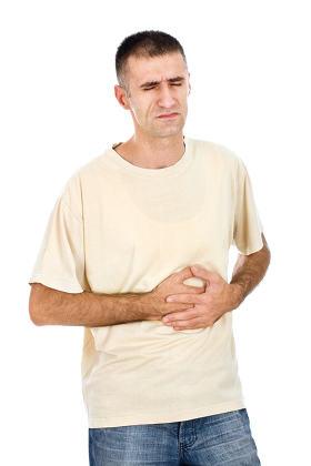 Pressing stomach