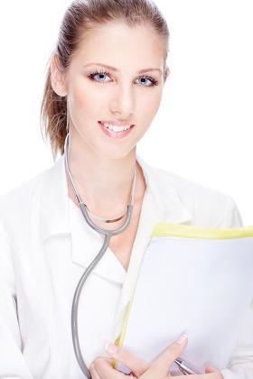 Pretty female doctor