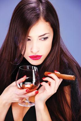 woman and cigar
