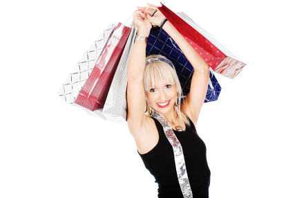 Woman and shopping bags