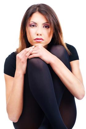 woman black dressed