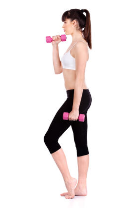 woman doing fitness exercises