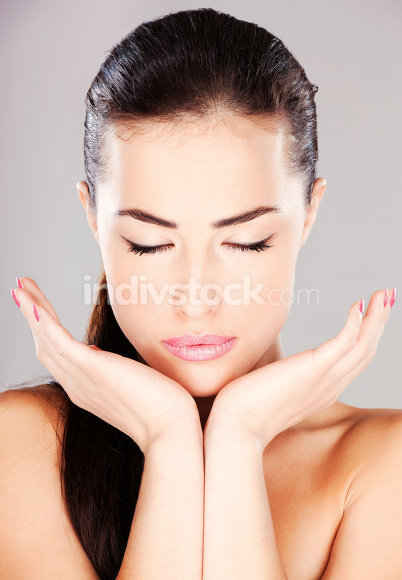 woman with closed eyes