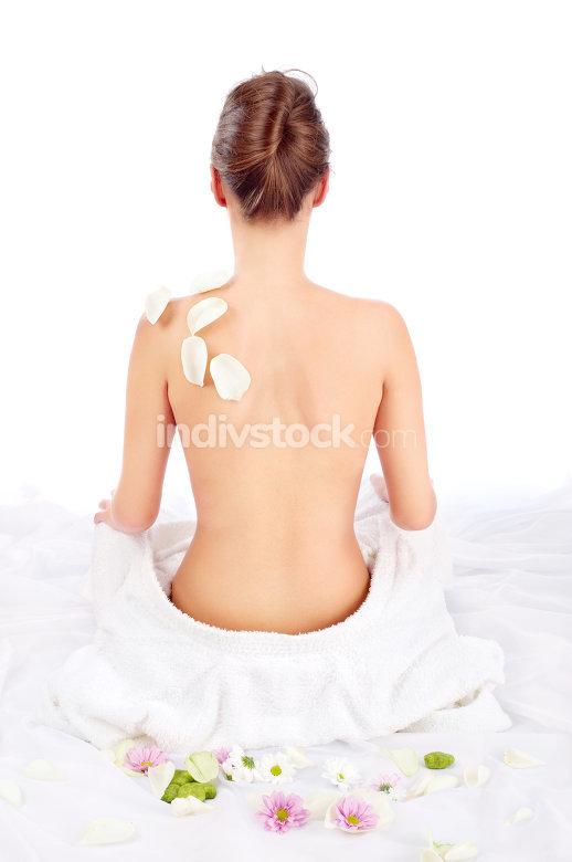 Sexy back of beautiful girl
