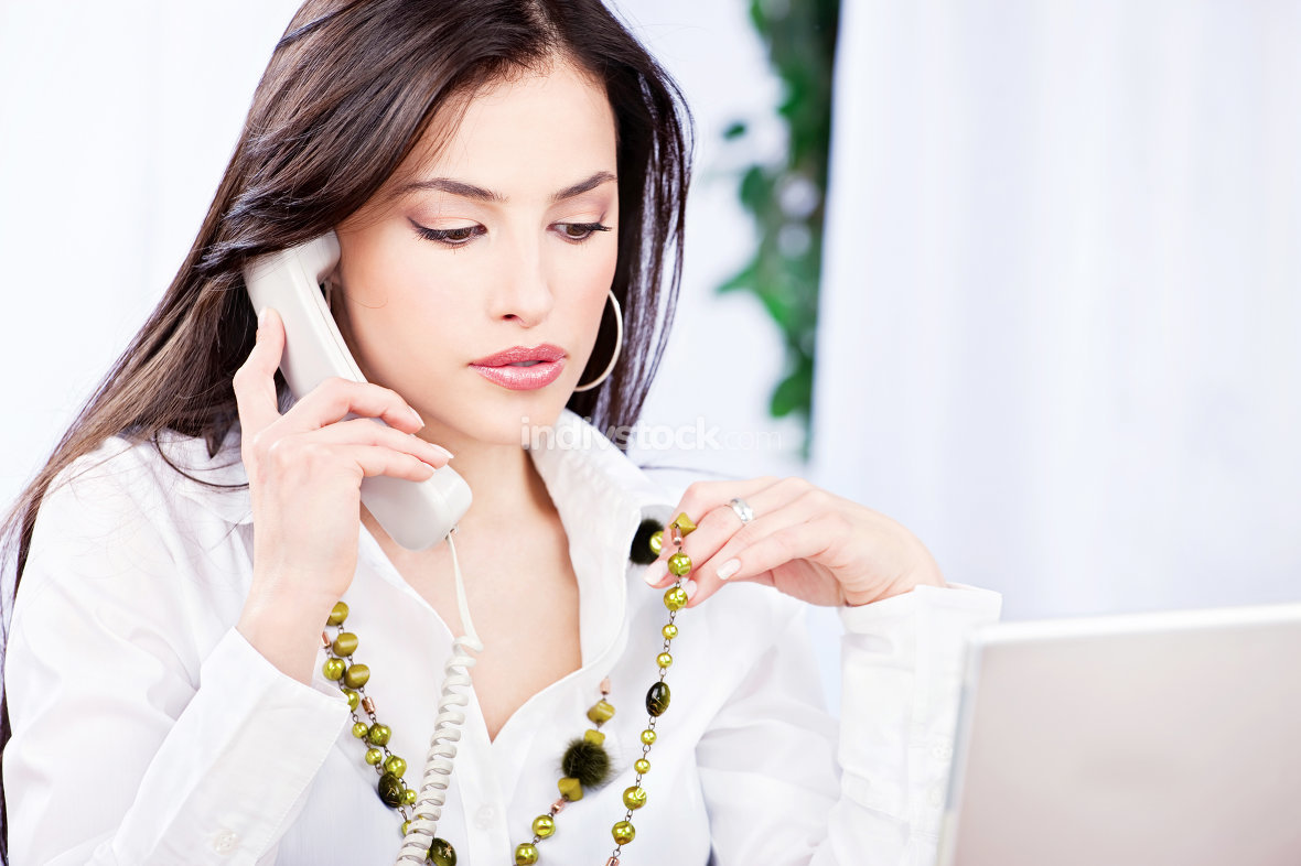 Business woman doing phone call