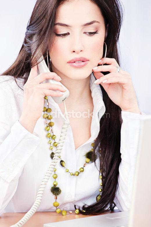 business woman having phone call