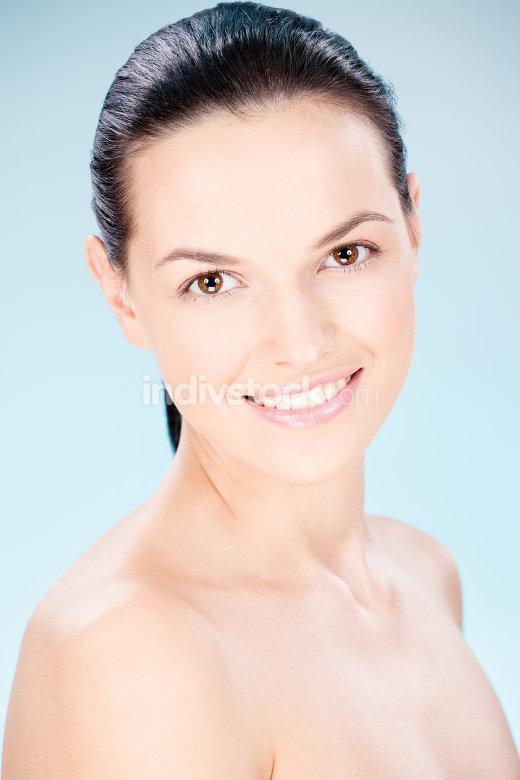 Clean skin woman