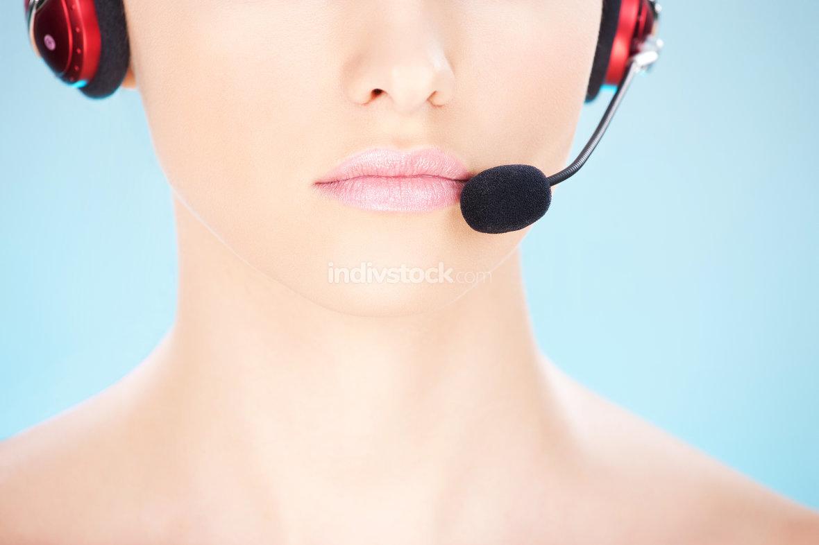 close up on female operator