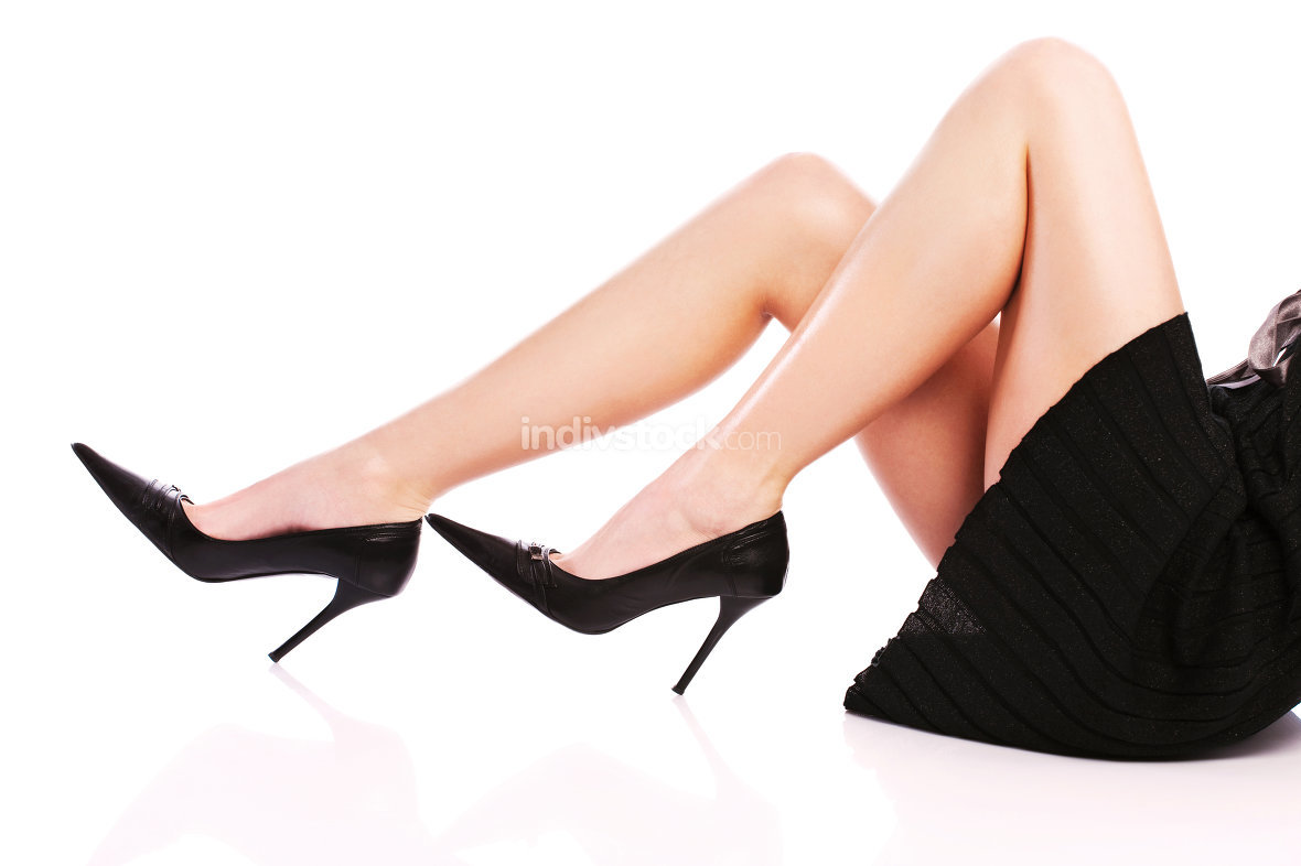 female legs and high heels