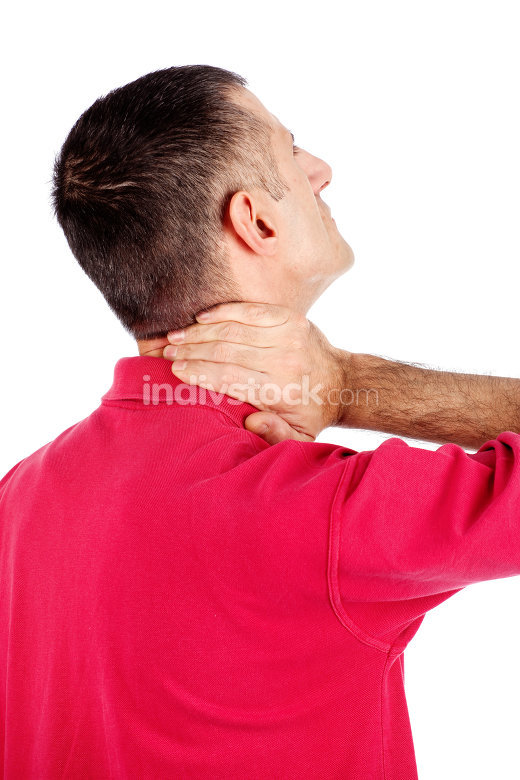 man have neck pain