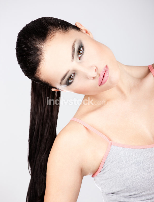 pretty young brunette woman