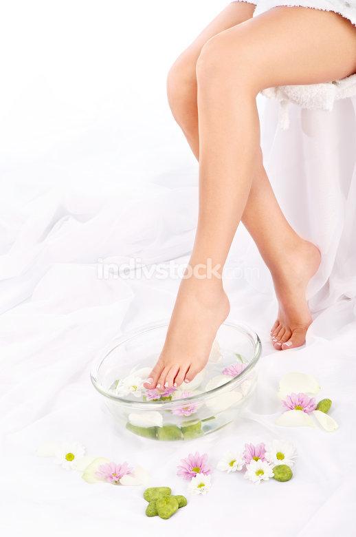Slim legs of beautiful girl