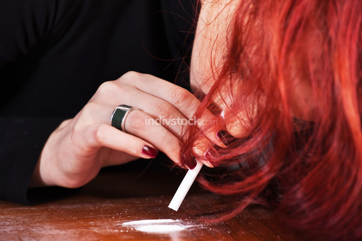 Woman and drugs