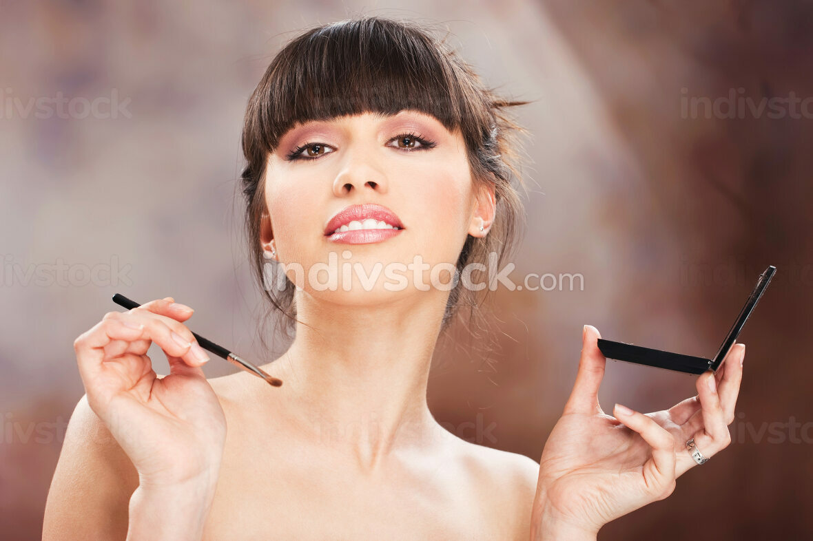 woman and make up