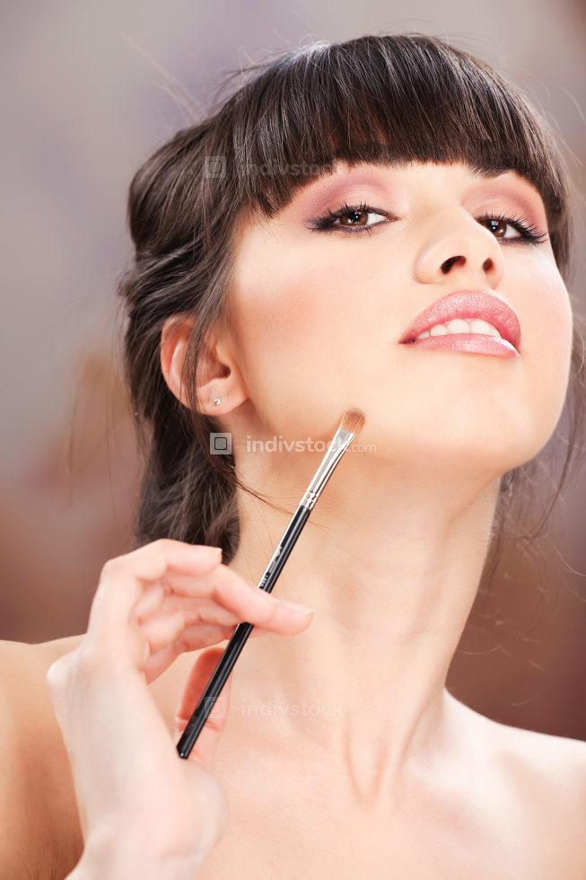 woman and make up