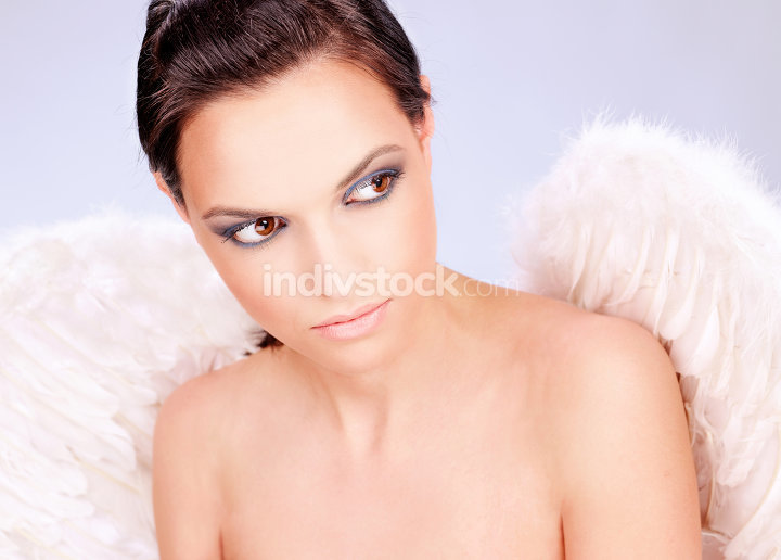 woman with angel