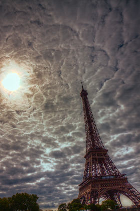 Clouds over Eiffel Tower